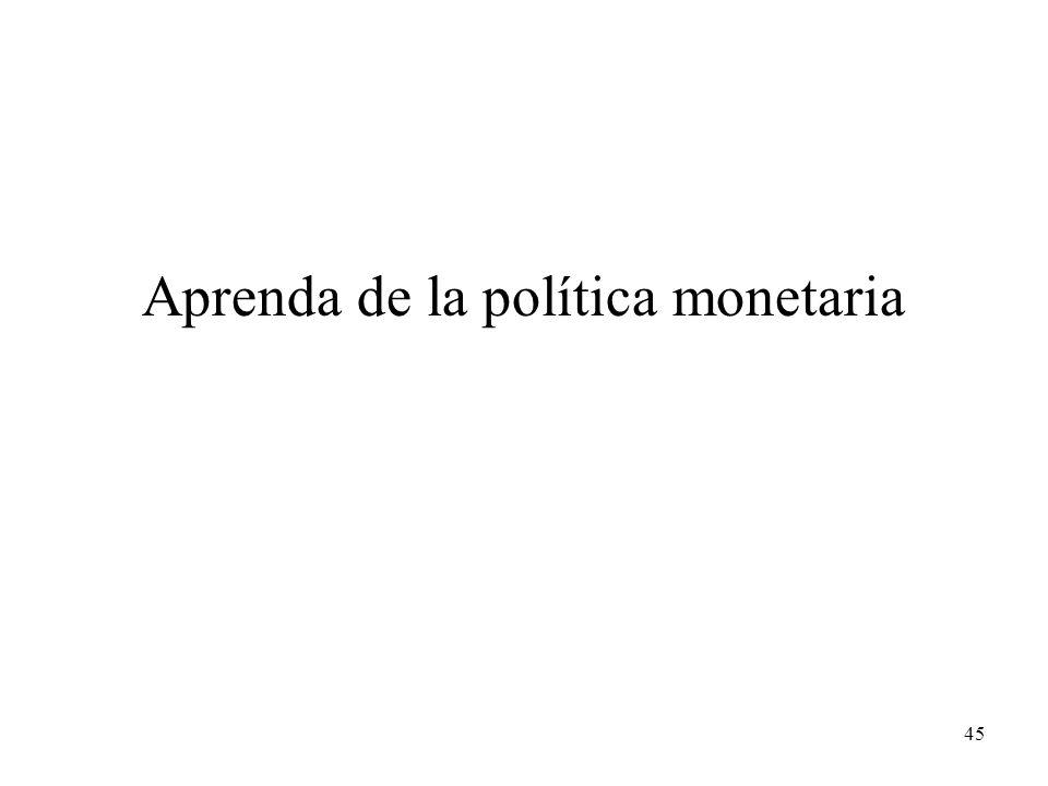 45 Aprenda de la política monetaria