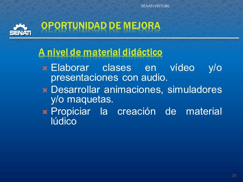 SENATI VIRTU@L 25  Elaborar clases en vídeo y/o presentaciones con audio.