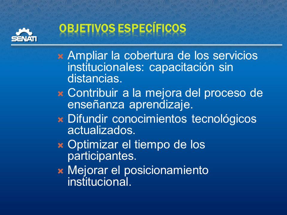  Ampliar la cobertura de los servicios institucionales: capacitación sin distancias.