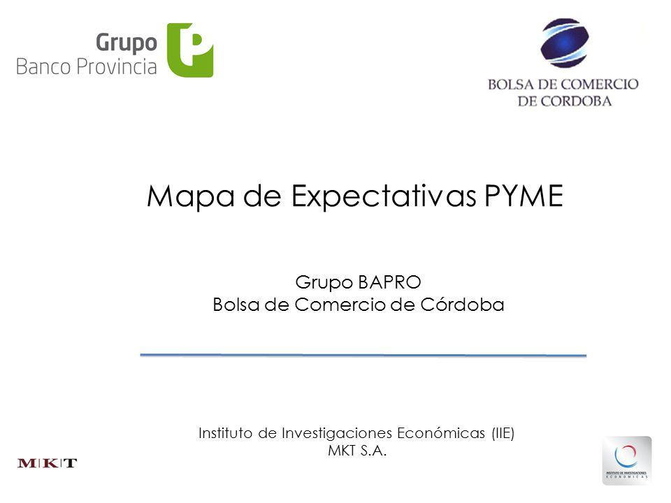 Grupo BAPRO Bolsa de Comercio de Córdoba Instituto de Investigaciones Económicas (IIE) MKT S.A.