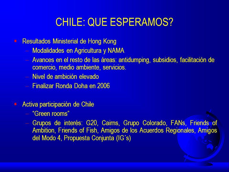 CHILE: QUE ESPERAMOS.