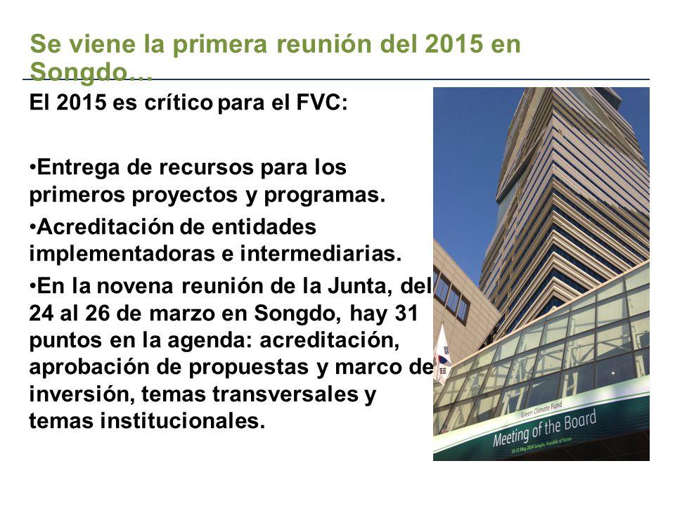 El 2015 es crítico para el FVC: Entrega de recursos para los primeros proyectos y programas.