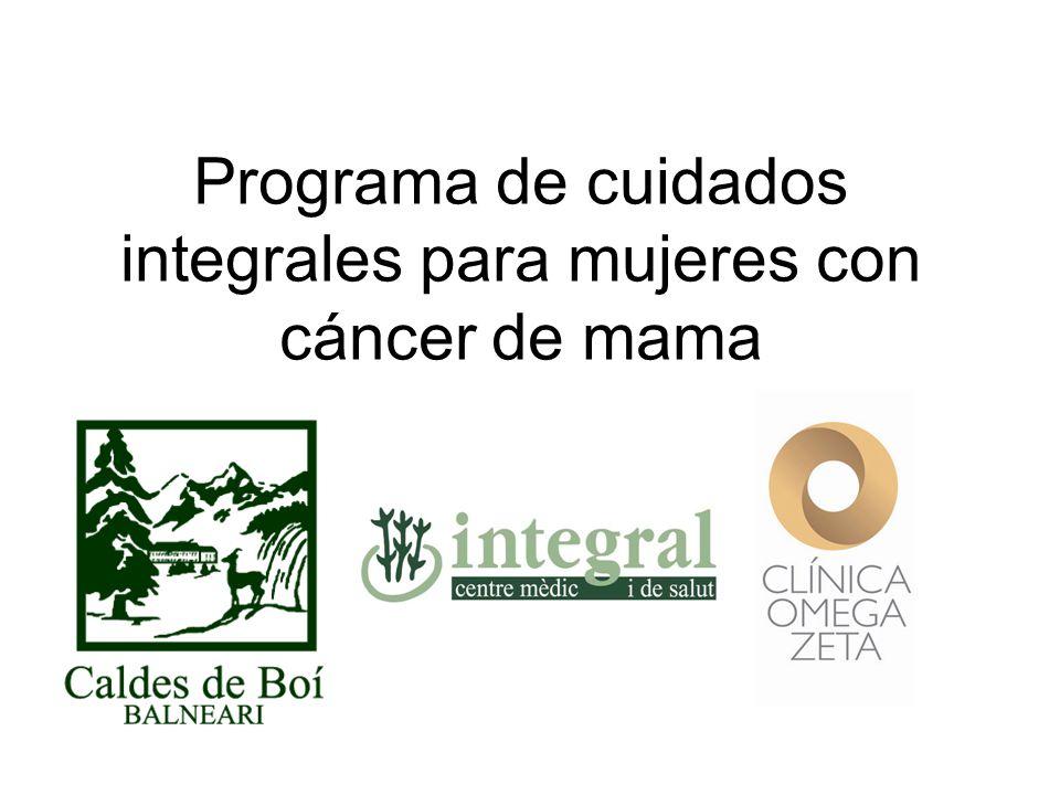 Programa de cuidados integrales para mujeres con cáncer de mama