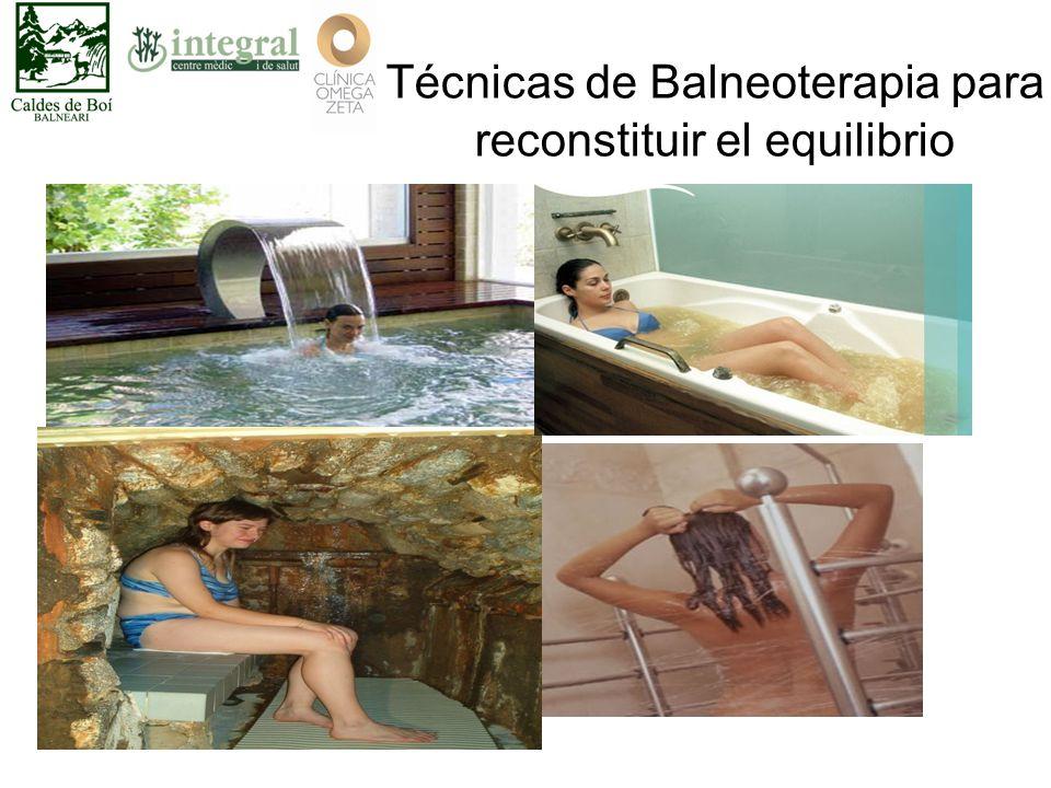 Técnicas de Balneoterapia para reconstituir el equilibrio