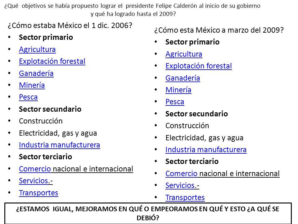 ¿Cómo estaba México el 1 dic. 2006.