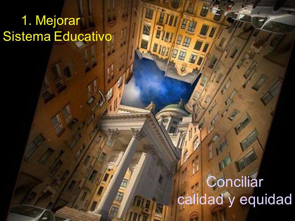 1. Mejorar el Sistema Educativo Conciliar calidad y equidad
