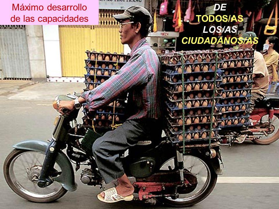 Máximo desarrollo de las capacidades DE TODOS/AS LOS/AS CIUDADANOS/AS