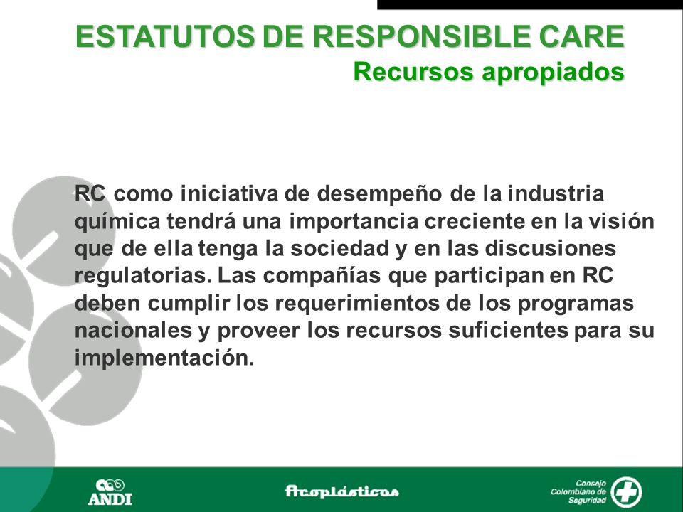 RC como iniciativa de desempeño de la industria química tendrá una importancia creciente en la visión que de ella tenga la sociedad y en las discusiones regulatorias.