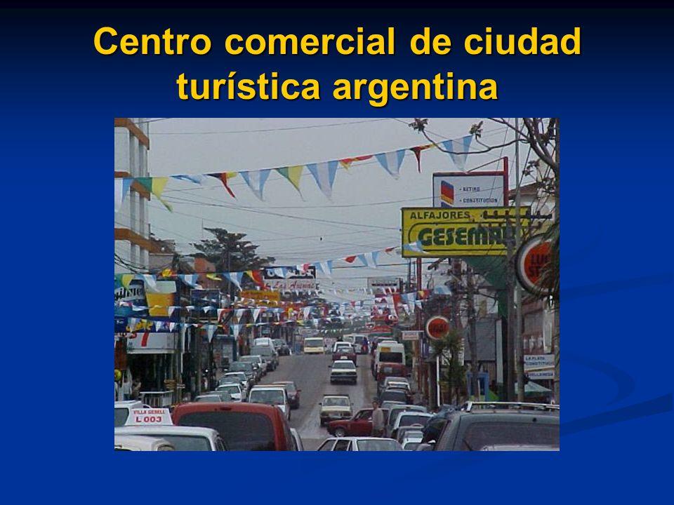 Centro comercial de ciudad turística argentina