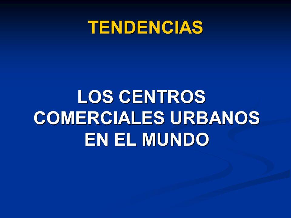 TENDENCIAS LOS CENTROS COMERCIALES URBANOS EN EL MUNDO