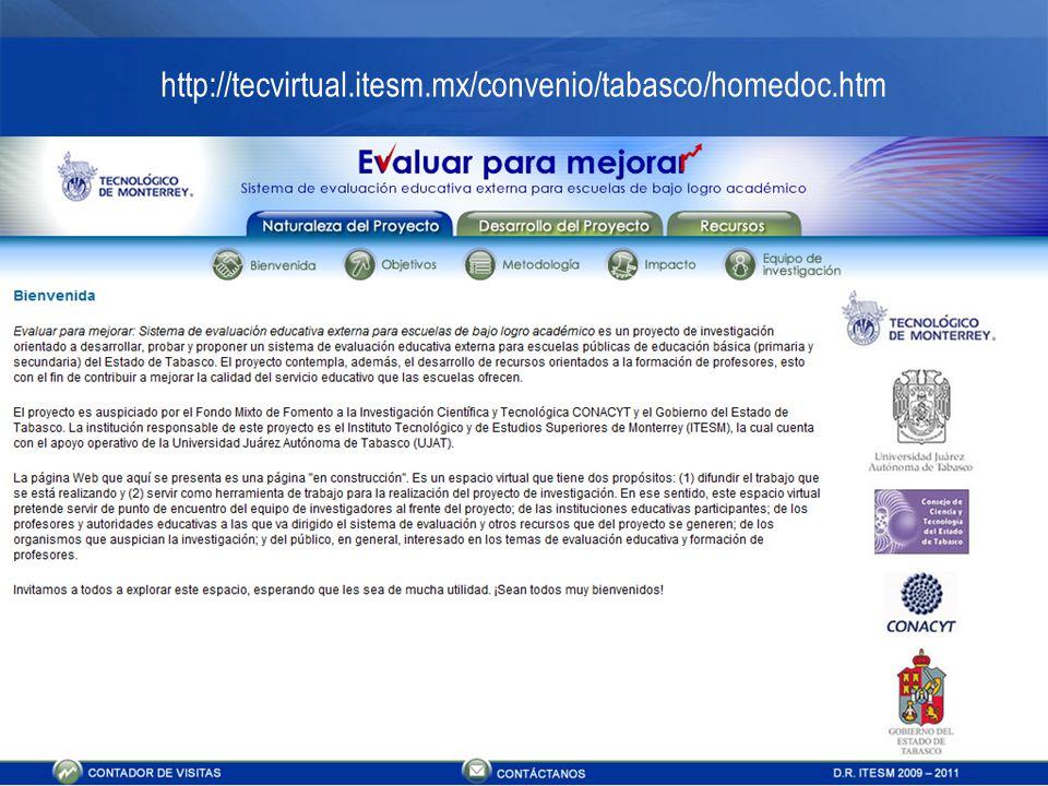 15 http://tecvirtual.itesm.mx/convenio/tabasco/homedoc.htm