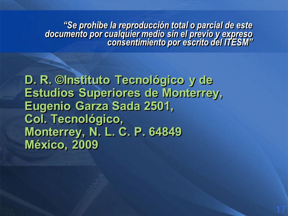 D. R. ©Instituto Tecnológico y de Estudios Superiores de Monterrey, Eugenio Garza Sada 2501, Col.