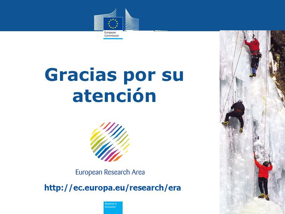 12 http://ec.europa.eu/research/era Gracias por su atención