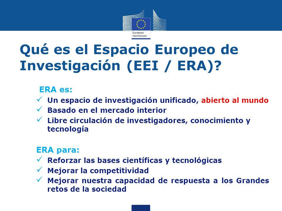 Qué es el Espacio Europeo de Investigación (EEI / ERA).