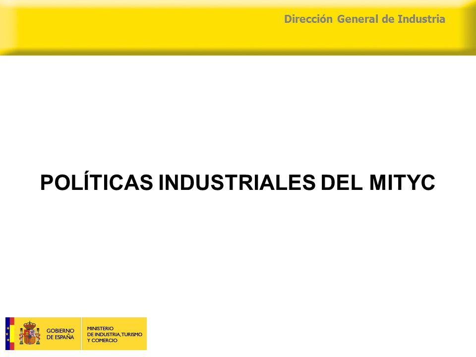 04/04/2015 Dirección General de Industria POLÍTICAS INDUSTRIALES DEL MITYC