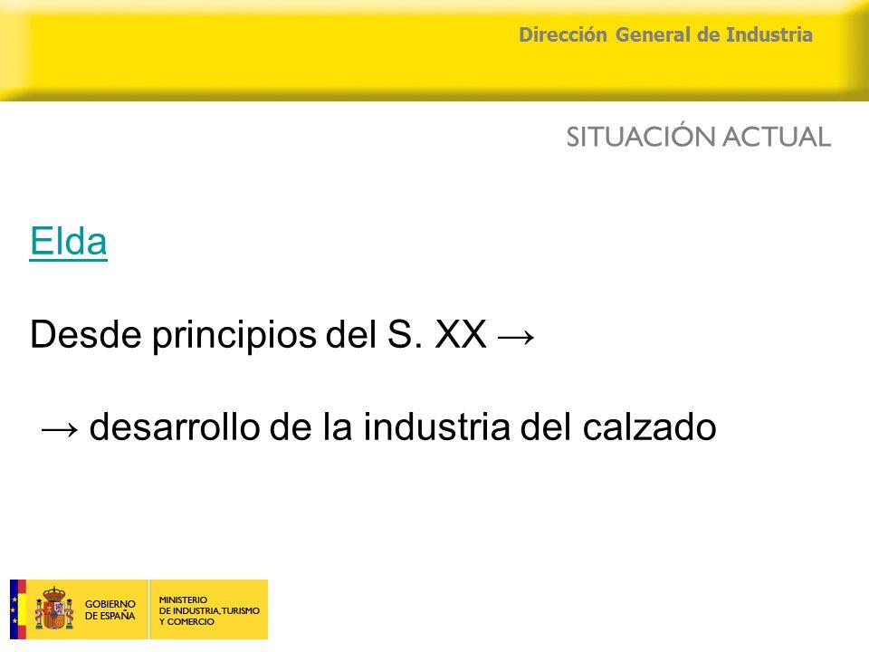 04/04/2015 Dirección General de Industria Elda Elda Desde principios del S.