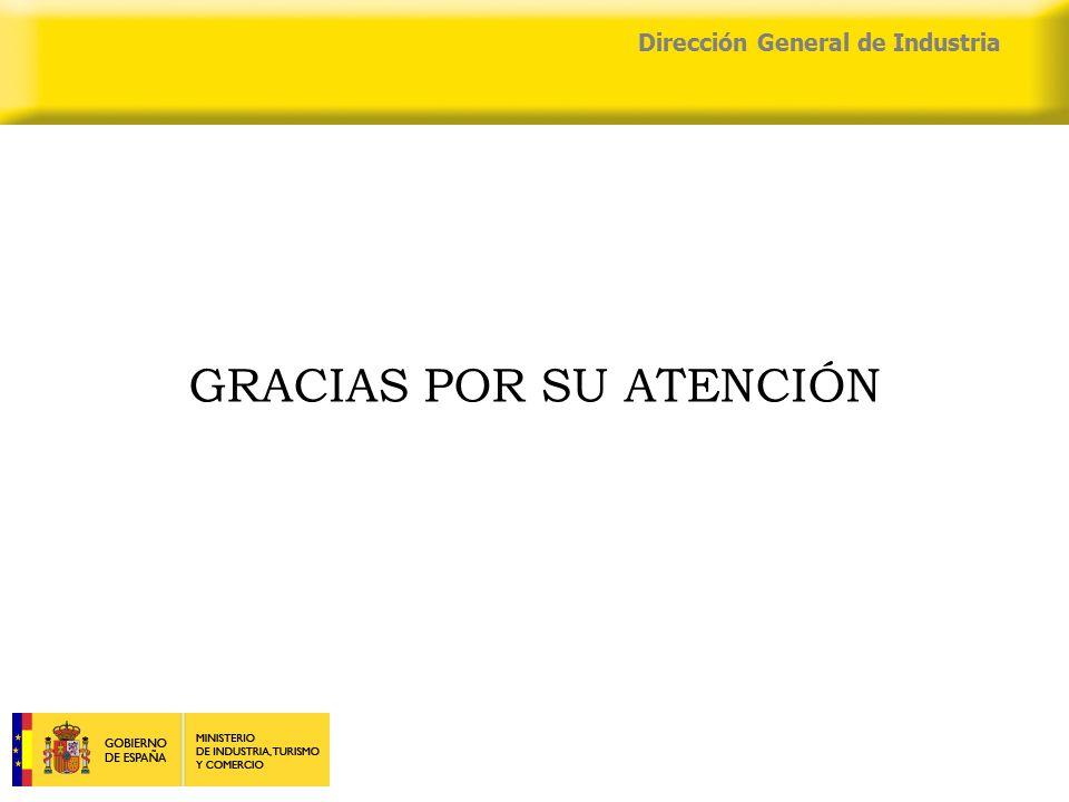 04/04/2015 Dirección General de Industria GRACIAS POR SU ATENCIÓN