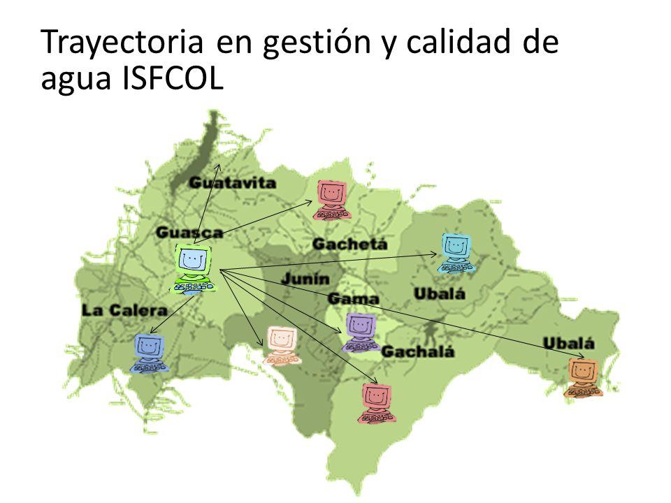 Trayectoria en gestión y calidad de agua ISFCOL