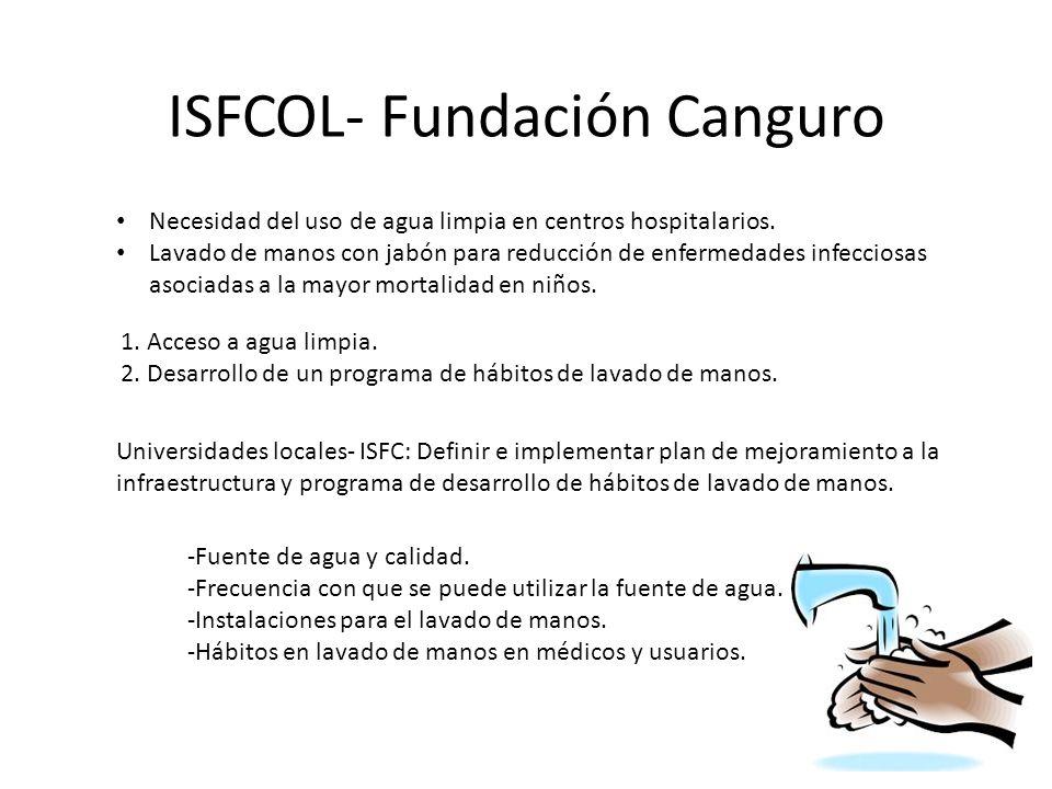 ISFCOL- Fundación Canguro 1. Acceso a agua limpia.