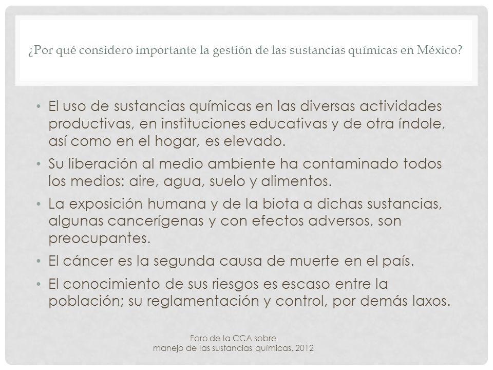 ¿Por qué considero importante la gestión de las sustancias químicas en México.