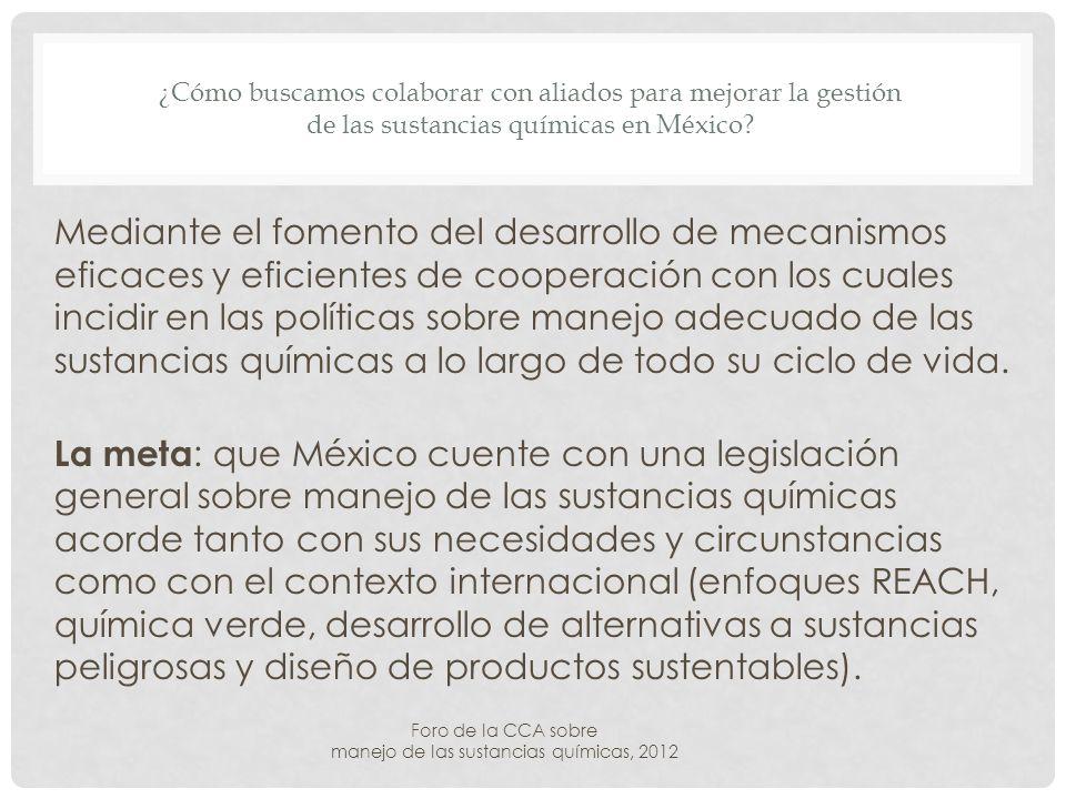 ¿Cómo buscamos colaborar con aliados para mejorar la gestión de las sustancias químicas en México.