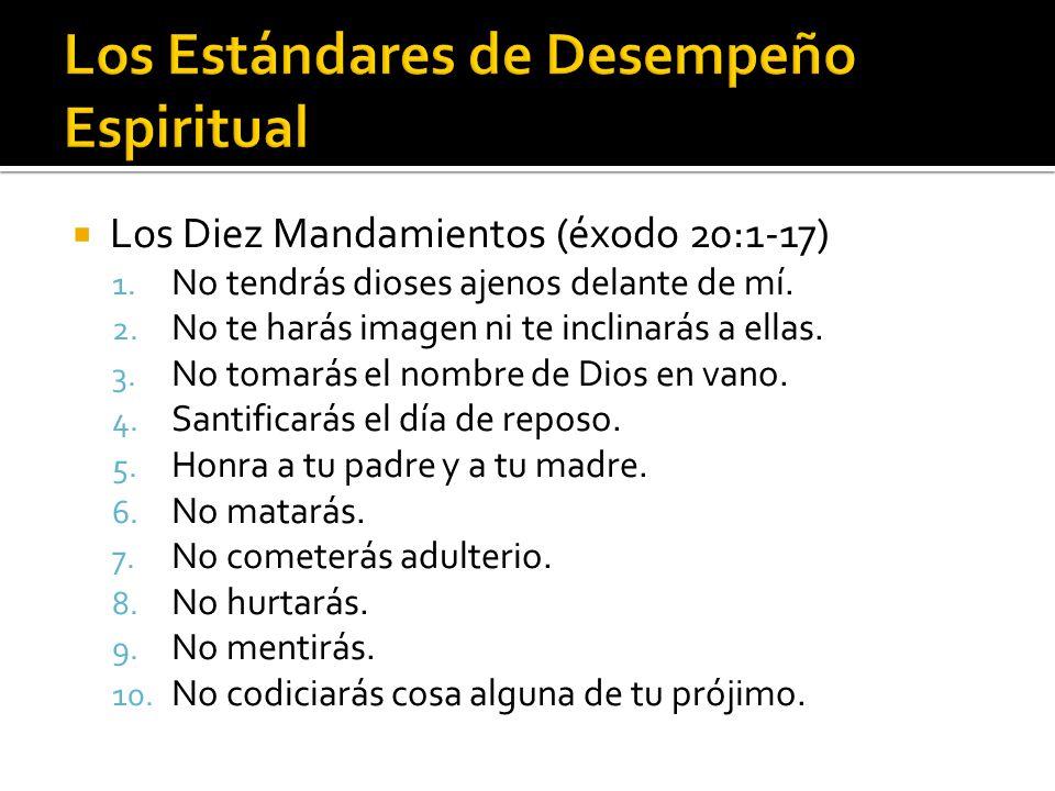  Los Diez Mandamientos (éxodo 20:1-17) 1. No tendrás dioses ajenos delante de mí.