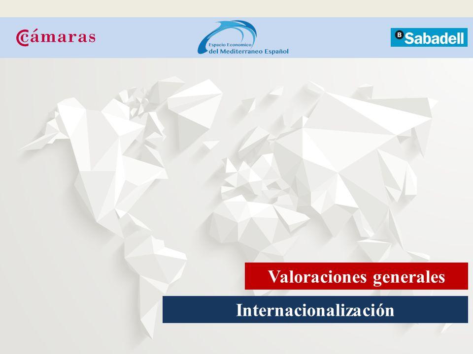 Internacionalización Valoraciones generales