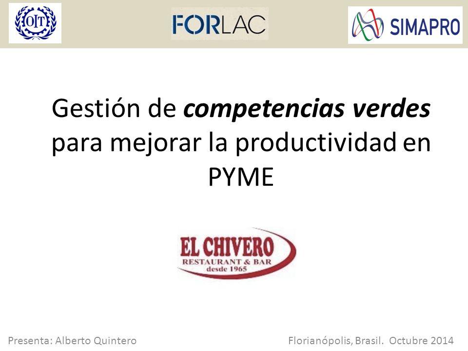 Contenido El Chivero del pasado Modelo integral FORLAC Diagnóstico inicial Adopción del modelo en mi empresa Cápsulas: 'capacitación verde' Mejora continua y medición Resultados El Chivero HOY.