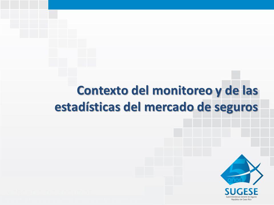 Contexto del monitoreo y de las estadísticas del mercado de seguros