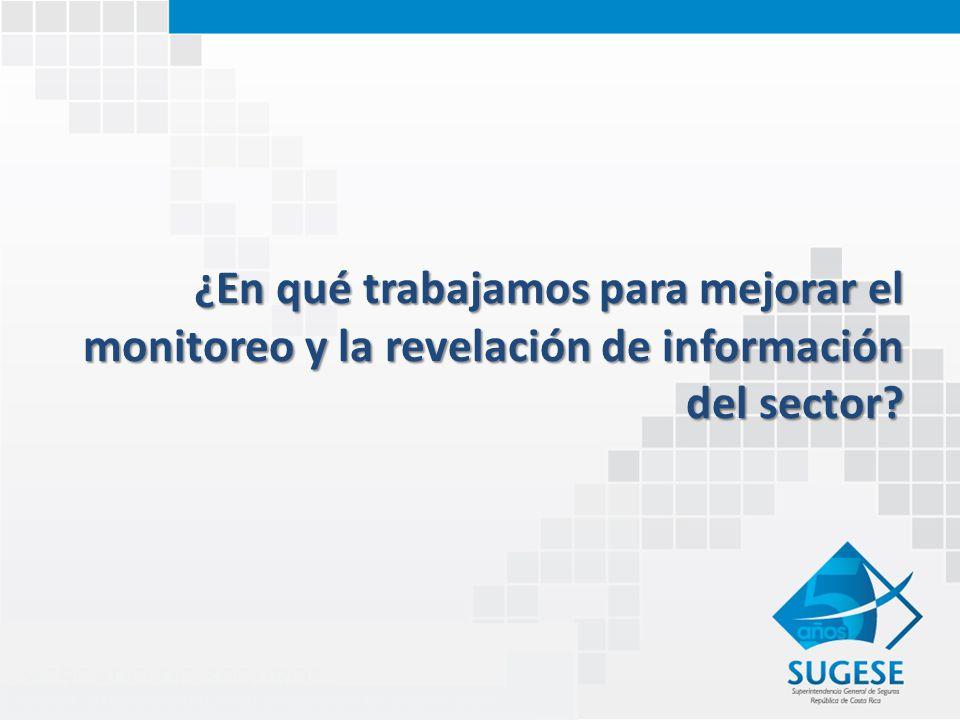 ¿En qué trabajamos para mejorar el monitoreo y la revelación de información del sector