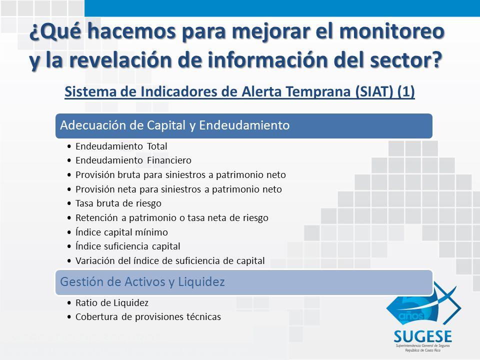 ¿Qué hacemos para mejorar el monitoreo y la revelación de información del sector.