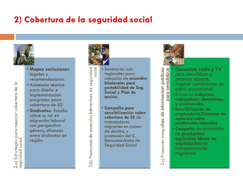 2) Cobertura de la seguridad social 11