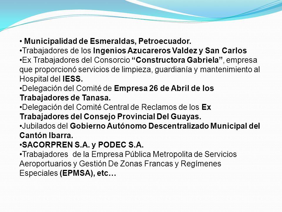 Municipalidad de Esmeraldas, Petroecuador.