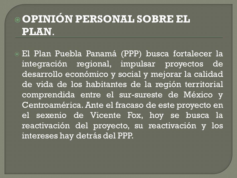  ¿CUAL ES SU OBJETIVO PRIORITARIO.   Pretende el desarrollo de la región mesoamericana.
