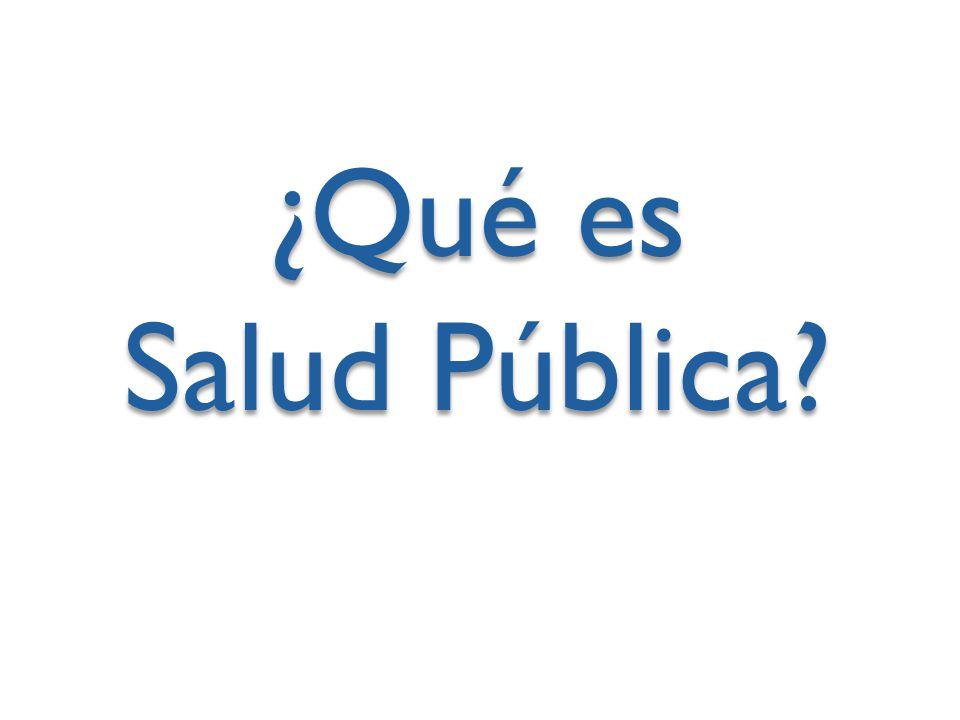 ¿Qué es Salud Pública