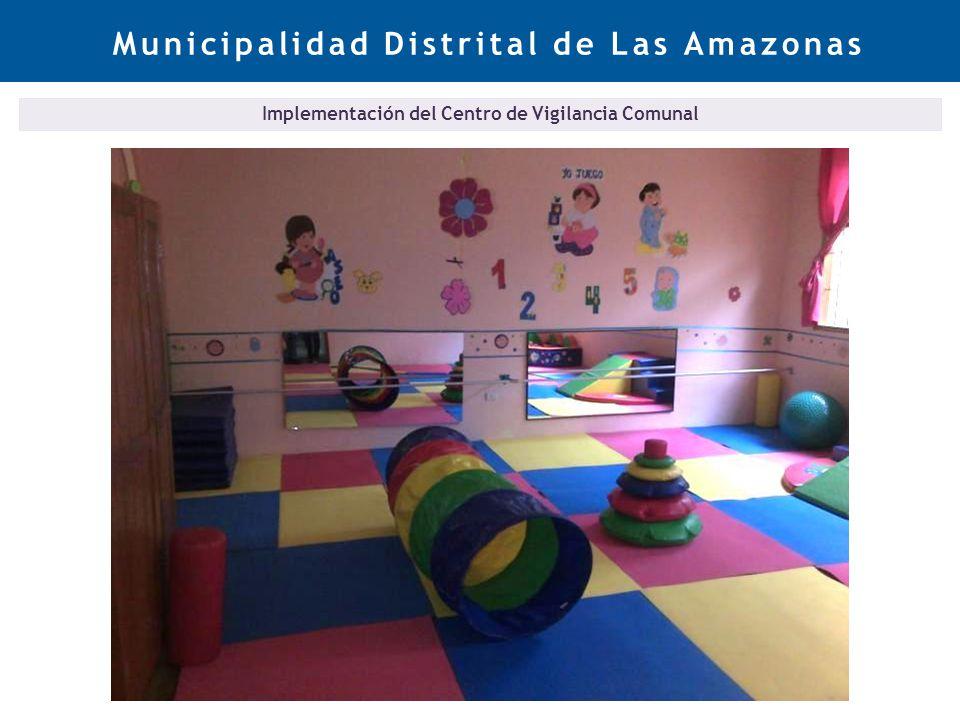 Municipalidad Distrital de Las Amazonas Implementación del Centro de Vigilancia Comunal