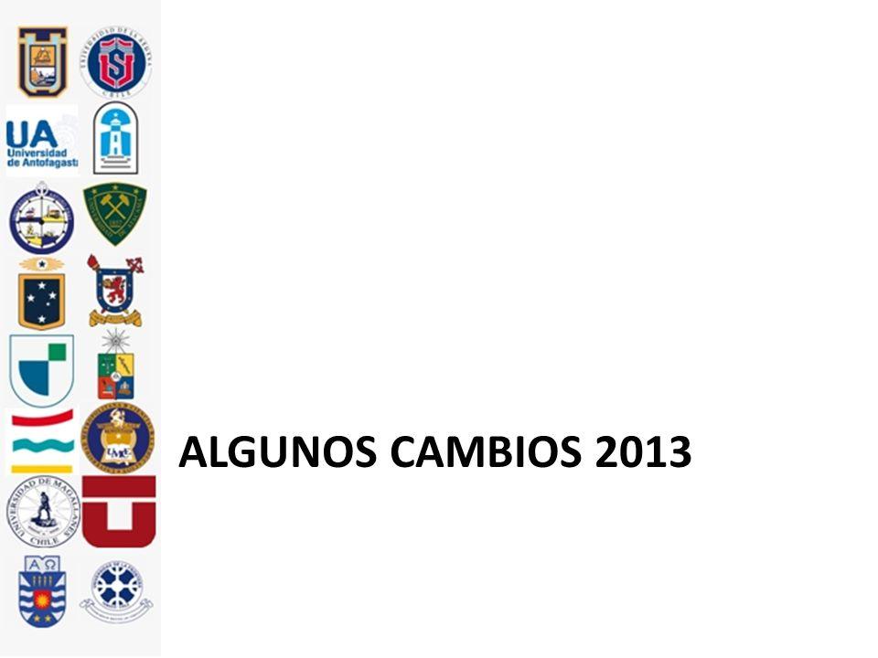 ALGUNOS CAMBIOS 2013