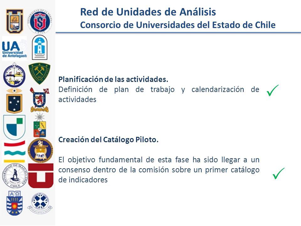 Red de Unidades de Análisis Consorcio de Universidades del Estado de Chile Planificación de las actividades.