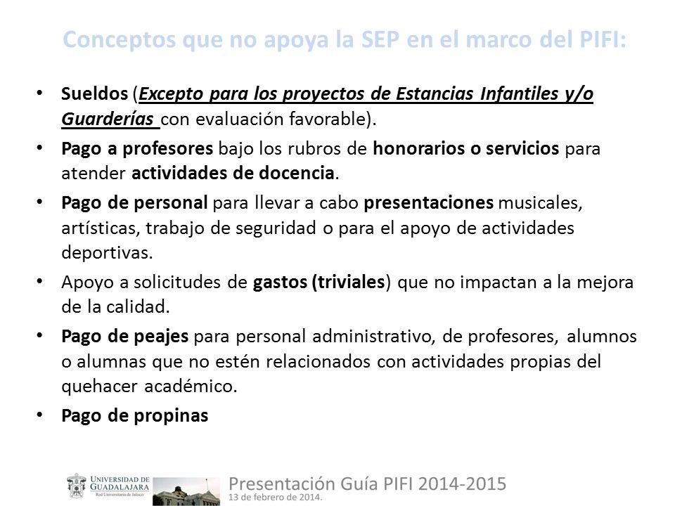 Sueldos (Excepto para los proyectos de Estancias Infantiles y/o Guarderías con evaluación favorable).