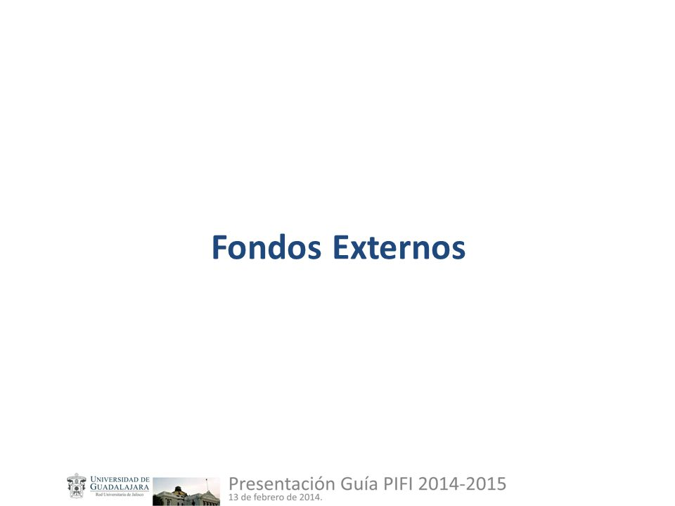 Fondos Externos