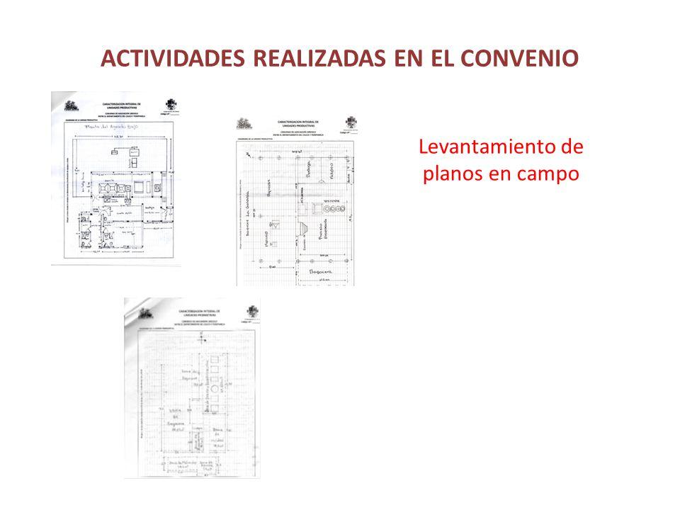 ACTIVIDADES REALIZADAS EN EL CONVENIO Levantamiento de planos en campo
