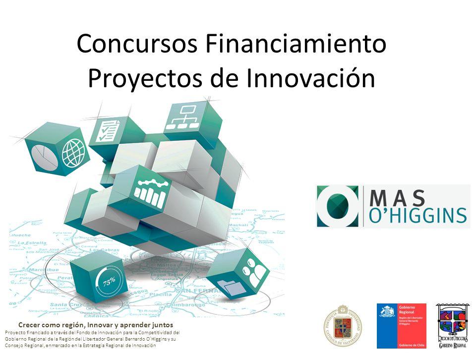 Crecer como región, Innovar y aprender juntos Proyecto financiado a través del Fondo de Innovación para la Competitividad del Gobierno Regional de la Región del Libertador General Bernardo O´Higgins y su Consejo Regional, enmarcado en la Estrategia Regional de Innovación Concursos Financiamiento Proyectos de Innovación