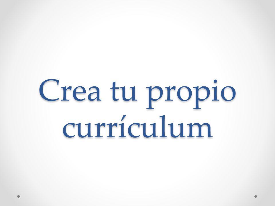 Crea tu propio currículum