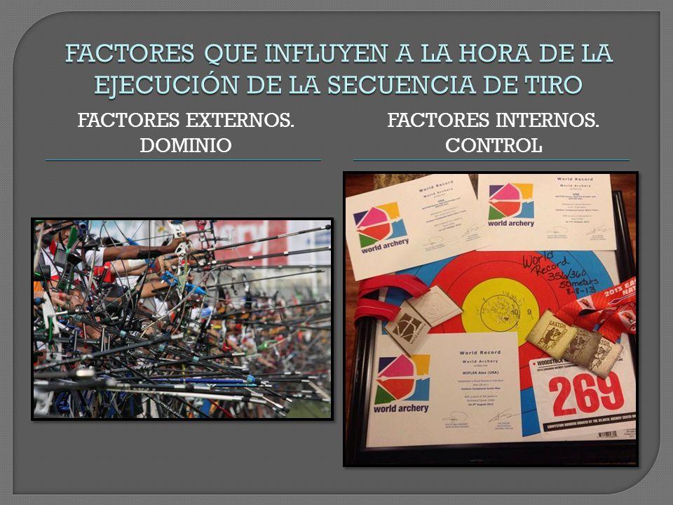 FACTORES EXTERNOS. DOMINIO FACTORES INTERNOS. CONTROL
