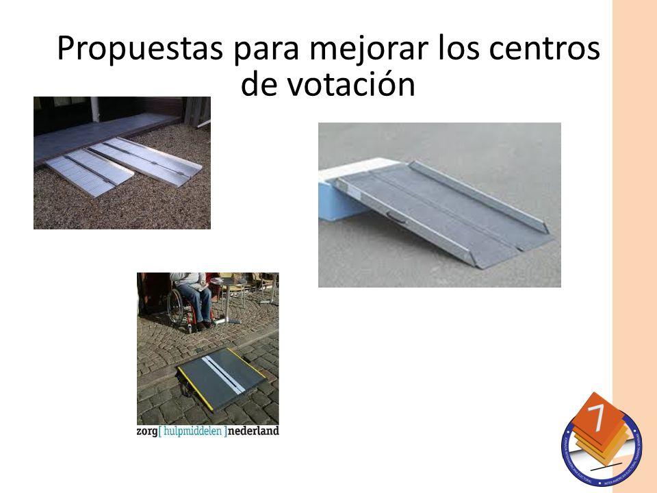 Propuestas para mejorar los centros de votación