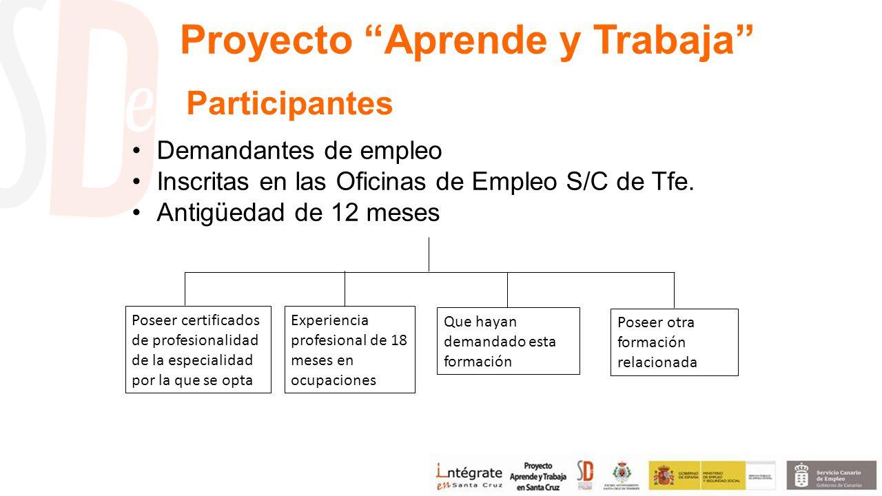 Demandantes de empleo Inscritas en las Oficinas de Empleo S/C de Tfe.