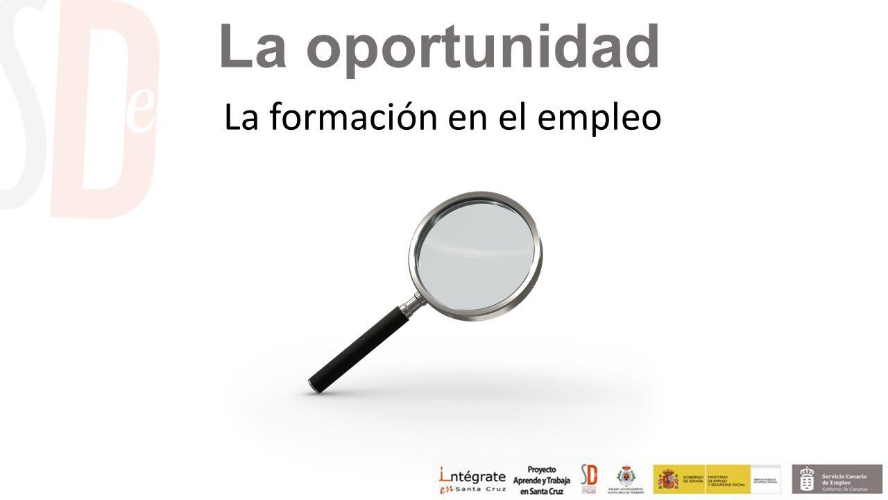 La oportunidad La formación en el empleo
