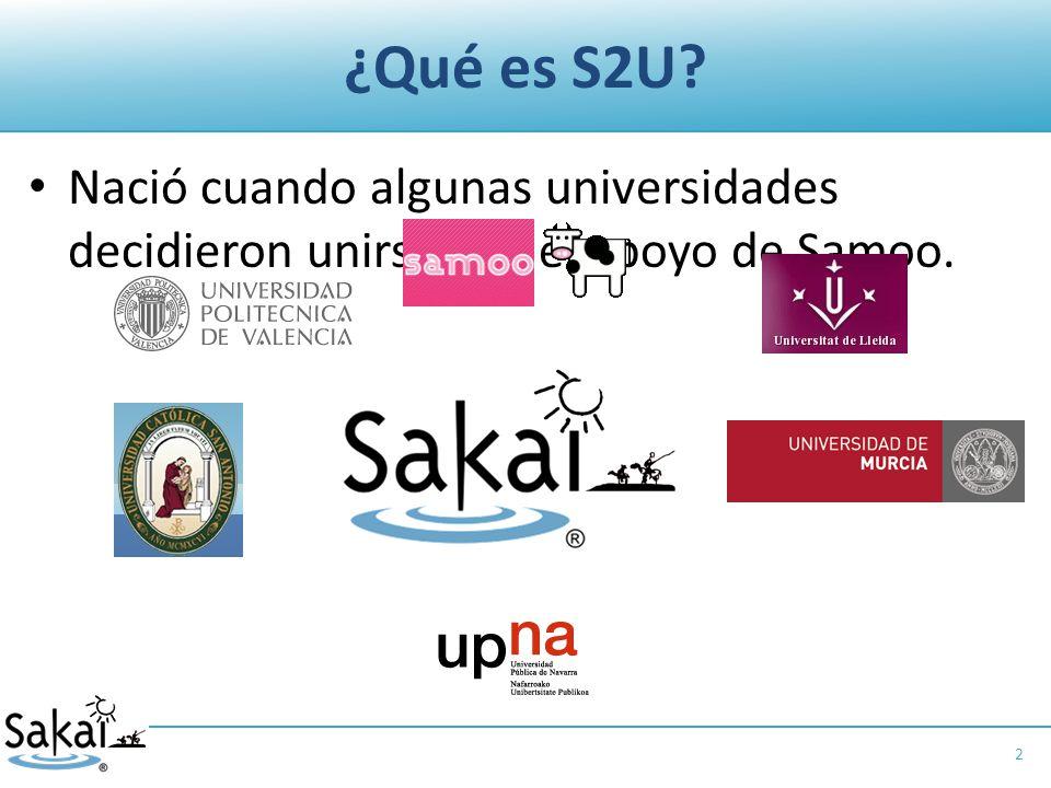 ¿Qué es S2U Nació cuando algunas universidades decidieron unirse con el apoyo de Samoo. 2