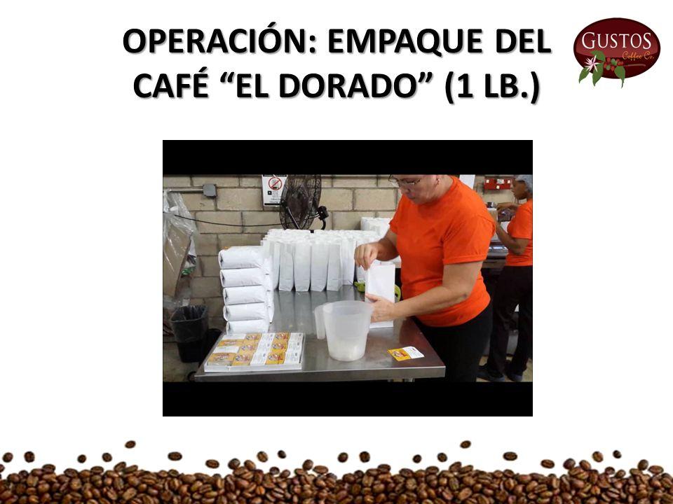 OPERACIÓN: EMPAQUE DEL CAFÉ EL DORADO (1 LB.)