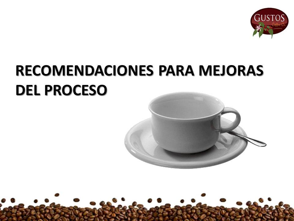 RECOMENDACIONES PARA MEJORAS DEL PROCESO